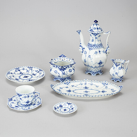 Royal copenhagen, a 30-piece 'musselmalet full lace' coffee service, denmark.