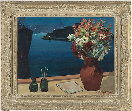 Bertel bertel-nordström, oil on canvas, signed and dated 1944.