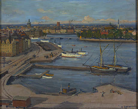 Gunnar zetterström, oil on panel, signed.
