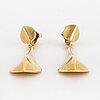 18k gold earrings.