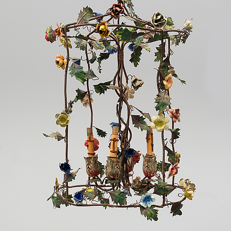 A ceiling lamp, rococo-style, 20th century.