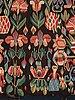 "A carriage cushion fragment, tapestry weave, ""urnor och par"", ca 51-53,5 x 92-97 cm, scania (sweden)."