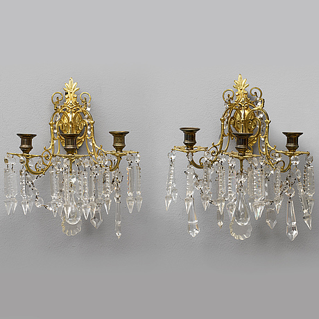 A pair of late 1800's wall sconces.
