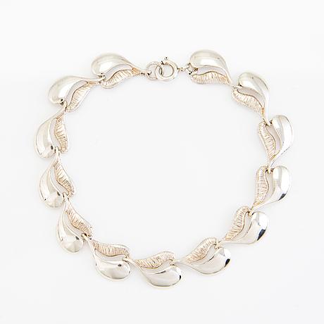 Halsband och armband, sterling silver, valo-koru, Åbo.