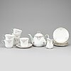 Alf wallander, a part porcelain tea service, rörstrand, jugend, early 20th century (8 pieces).