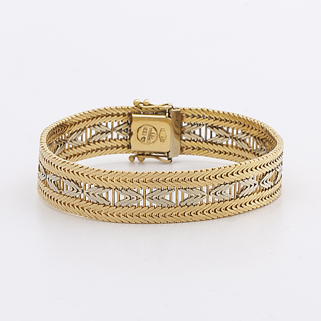 Bracelet 18k bi-coloured gold, 31,7 g.