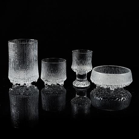 Tapio wirkkala, a part 'ultima thule' glass service, iittala.