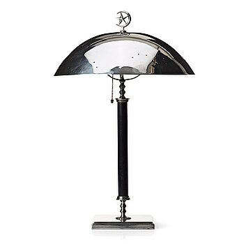 238. Elis Bergh, attributed to, a Swedish Grace silver plated table light, C G Hallberg, Sweden 1920's.