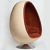 """Henrik thor-larsen, an """"ovalia"""" easy chair, for torlan ab, sweden 1960-70's."""
