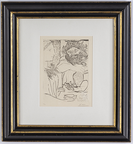Pablo picasso, etching, 1934,  signed in pencil and numbe.