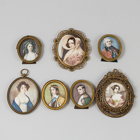 Miniatures, 7, 19th century.