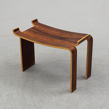A kai lyngfeldt larsen rosewood stool for liljevalchs, 1964.