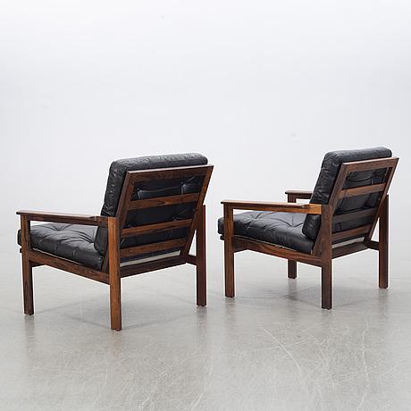 "Illum wikkelsÖ, fåtöljer,  ett par, ""capella"", eilersen, danmark, 1960-tal."