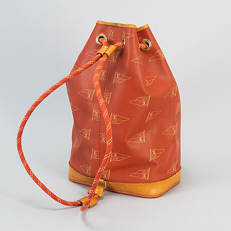 Louis vuitton, '1995 lv cup st. tropez drawstring backpack'.
