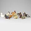 Lisa larson, figuriner 12 st, stengods. bl a för k-studion, gustavsberg.