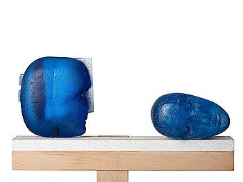 14. Bertil Vallien, a unique sand cast glass sculpture, Kosta Boda, Sweden.