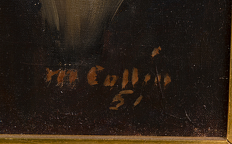 Marcus collin, oil on canvas, signed and dated-51.