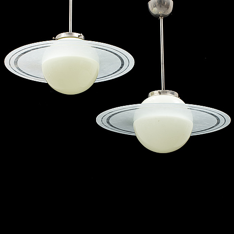 A pair of 1930s ceiling lamps.