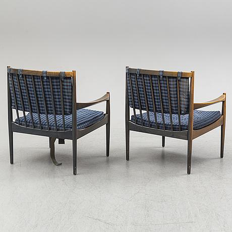 Karmfåtöljer, ett par, 1960-tal.
