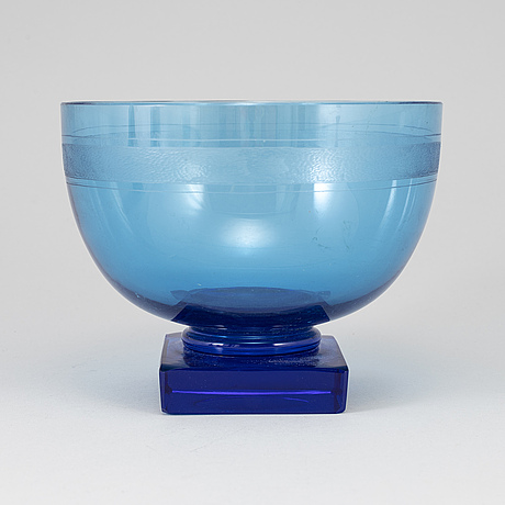 A glass bowl from daum, nancy, france.