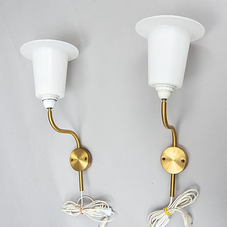 Uno and Östen kristiansson, a pair of wall lights, luxus, vittsjö.
