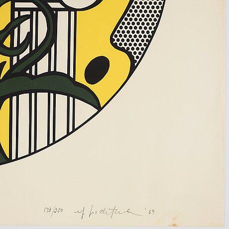 """Roy lichtenstein, """"the solomon r. guggenheim museum poster""""."""