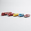 A set of 15 dinky toys cars and four boocklets.