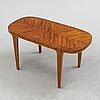 Axel larsson, possibly. a swedish modern mahogany veneered coffee table, 1940's.