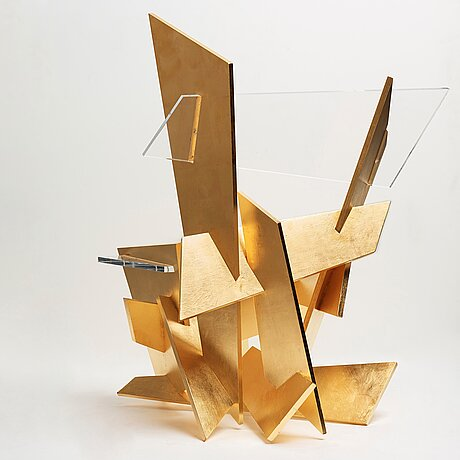 "Sigurdur gustafsson, a plexiglass and plywood ""a-eki"" chair for källemo, nr 9 in an edition of 19 examples, sweden post 2016."