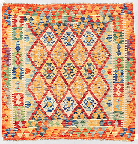 A rug, kilim, ca 152 x 150 cm.