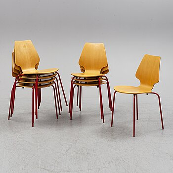 A set of eight chairs, Labofa, Denmark, late 20th century.