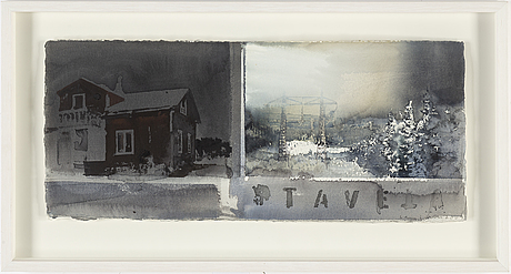 Lars lerin, watercolour, signed nad dated 2009.
