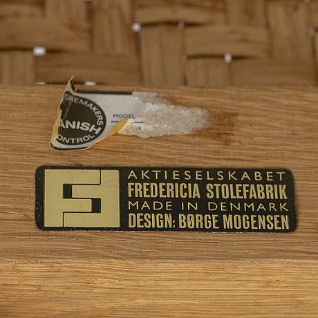 BØrge mogensen, an oak and rattan bench from fredericia stolefabrik, danmark 1950's/60's.