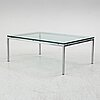 Helmut fuchs, a glass coffee table from dux, secnd half of the 20th century.