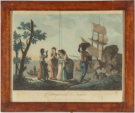 Engravings, 4 + 2 st, after  august legrand (1765-1815).