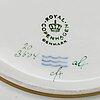 Royal copenhagen, a 'flora danica' porcelain bowl and dish, denmark, 1968.
