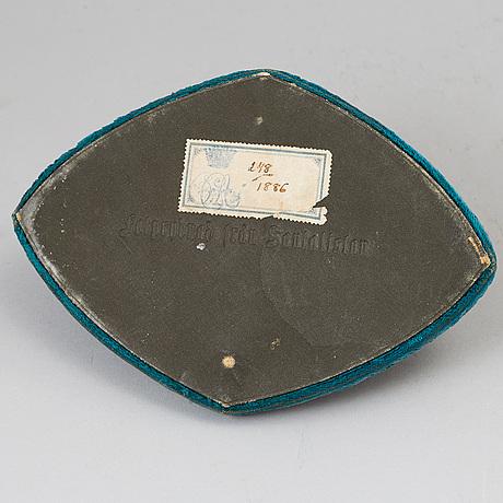 Fotprydnad, vitmetall. norra indien, 1800-tal.