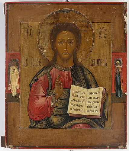 Icon, russia, 19th century, tempera on panel.