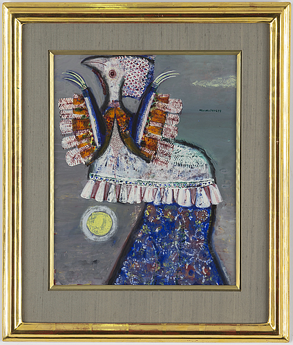 Max walter svanberg, gouache on paper signed and dated 58.