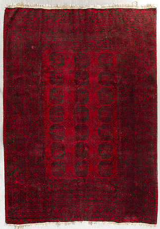 An old afghan carpet ca 320 x 243 cm.