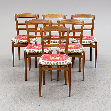 Carl malmsten, a seven-piece oak dining suite.