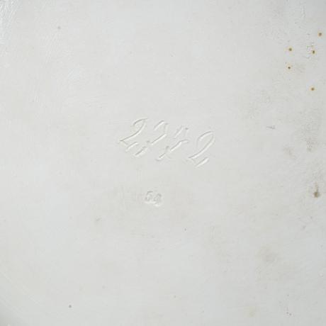UppsatsskÅl på fot, porslin. meissen, omkring 1900.