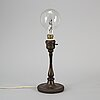 Tiffany studios, a ''model 322' patinated brass table lamp, new york, early 1900's.