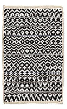 """213. Barbro Nilsson, A CARPET, """"Rosengång med blå rand"""", flat weave, ca 164,5 x 99,5 cm, signed AB MMF BN."""