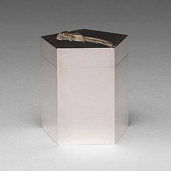 164. Wiwen Nilsson, a pentagonal lidded sterling jar, Lund, Sweden 1965.