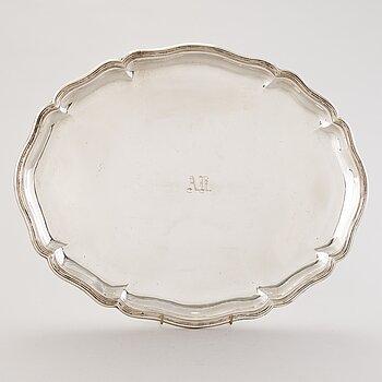A Danish silver tray, mark of V. Mortensen, Christian F. Heise, 1917.