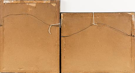 Eric vasstrÖm, akvareller ett par, signerade och daterade 1931.