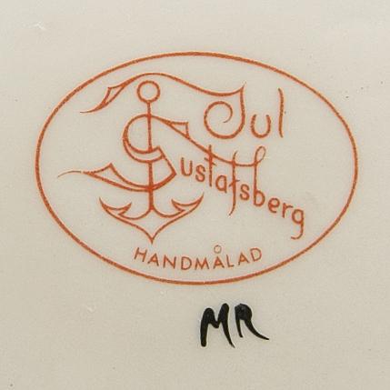 """Julservis, 41 delar, porslin, """"god jul"""" / """"old gustavsberg"""", gustavsberg, 1900-talets andra hälft."""