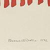 Lennart rodhe, färgserigrafi, triptyk, signerad och numrerad 41/75.