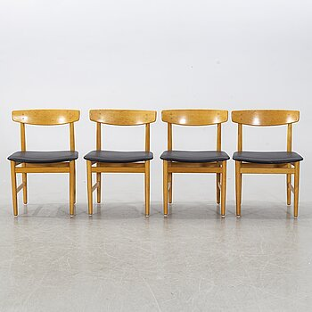 BØRGE MOGENSEN, four chairs, for Karl Andersson och Söner, second half of the 20th century.